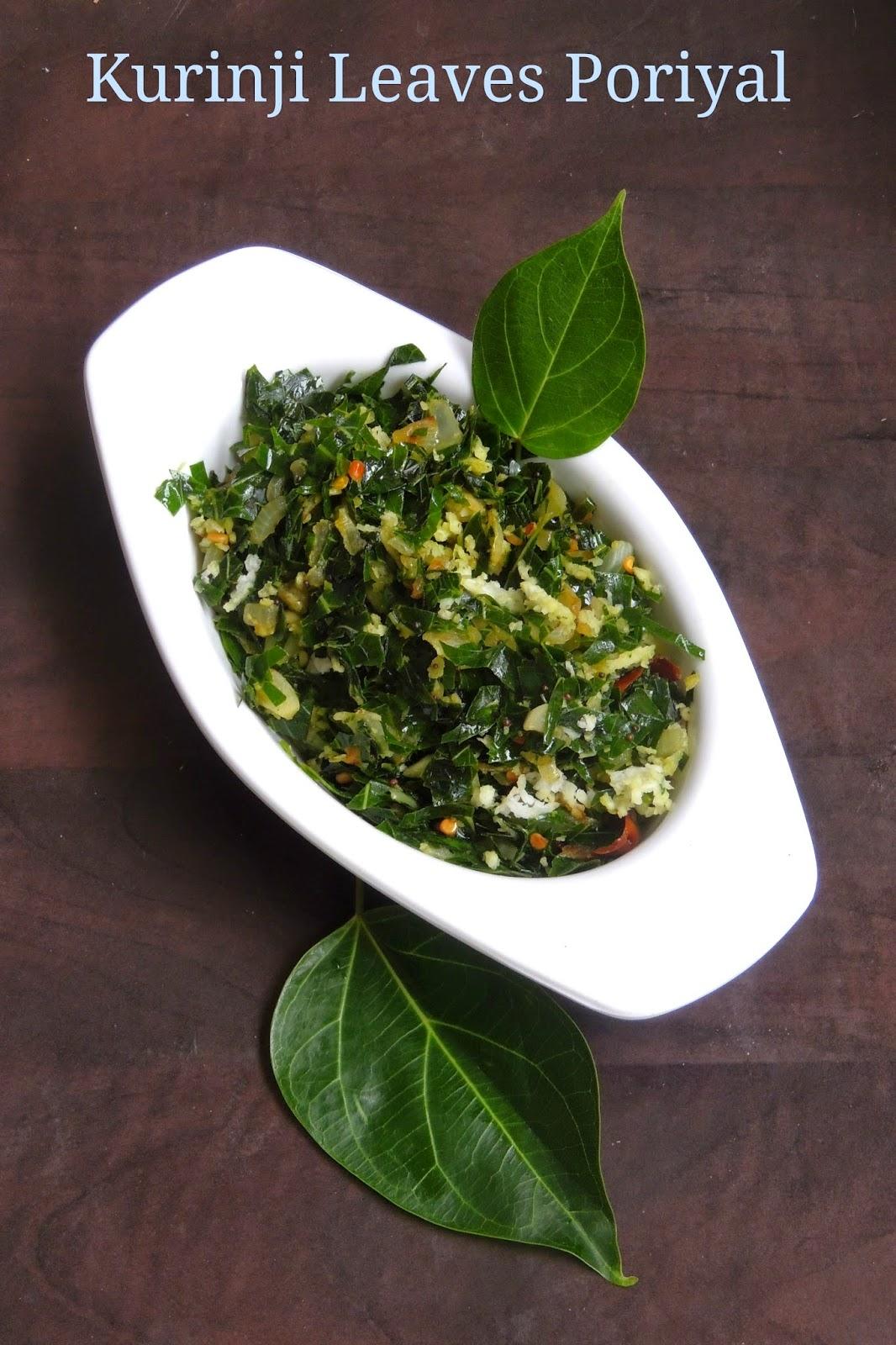Healthy Kurinji leave stir fry, Kurinji ilai poriyal