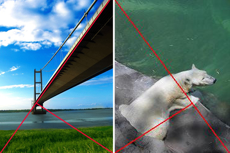 composition photography triangle rule