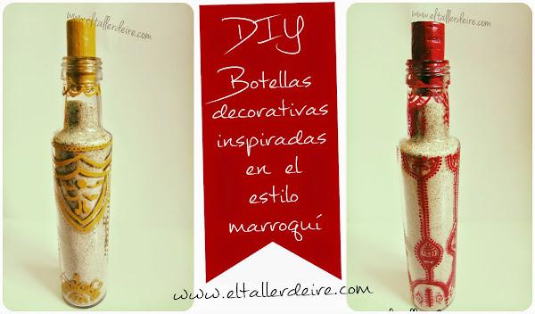 Reutiliza botellas de vinagre para crear botellas decorativas de estilo marroqu�