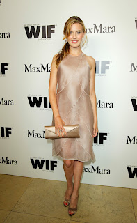 Maggie Grace looks gorgeous at Max Mara Women In Film red carpet