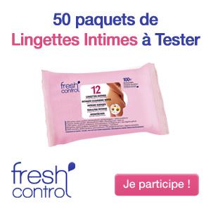 50 paquets de Lingettes Intimes à tester