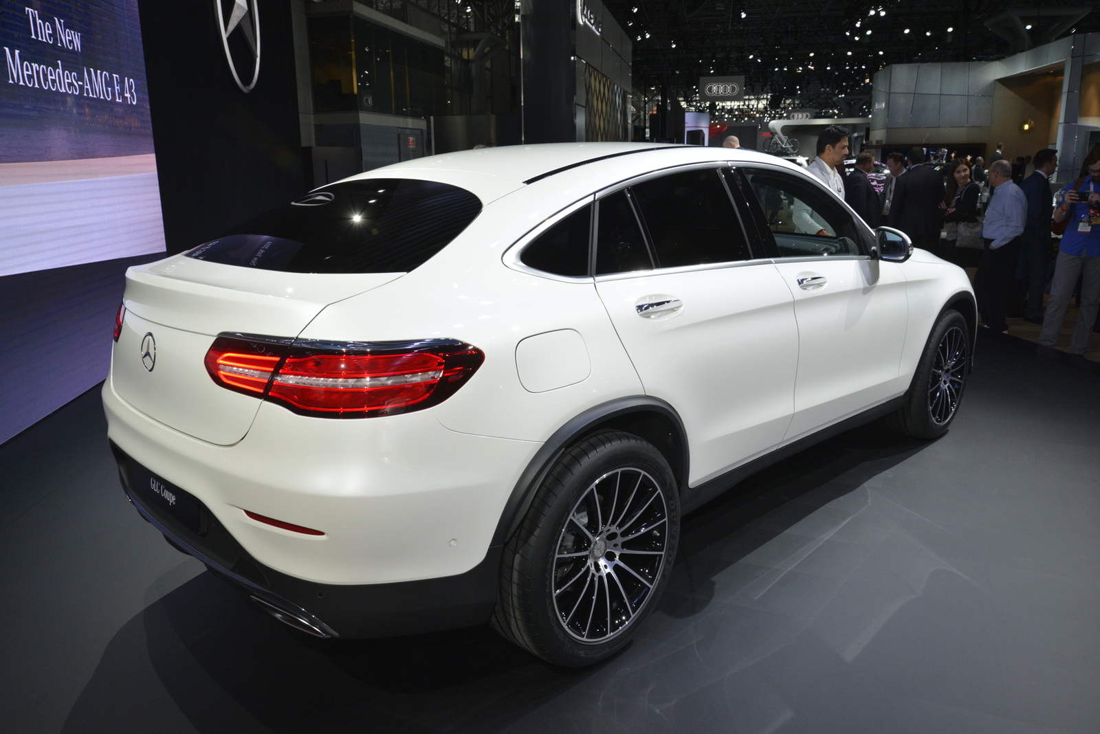 New mercedes glc coupe detailed under ny 39 s lights