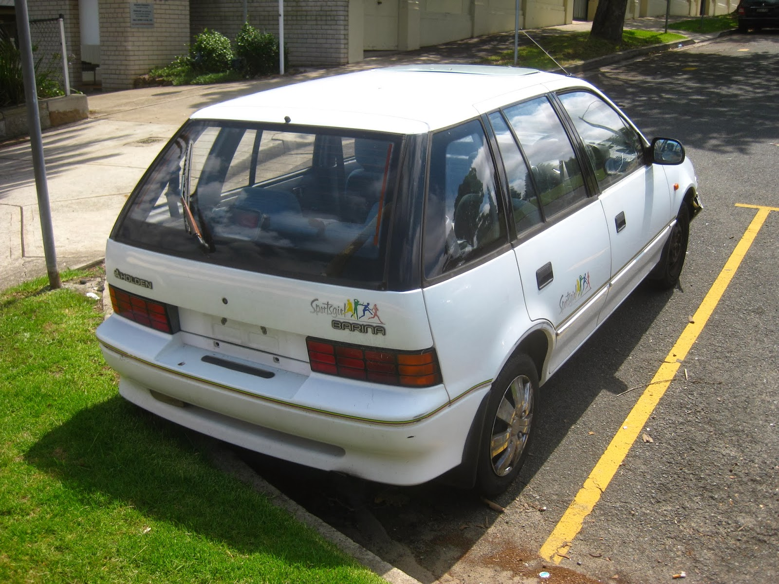 Aussie Old Parked Cars 1992 Holden Barina Sportsgirl