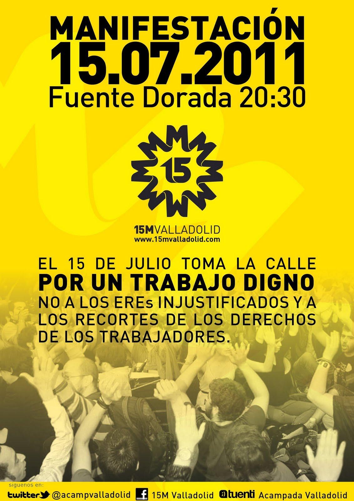Movimiento 15m valladolid zona sur manifestaci n 15j for Oficina inem vic