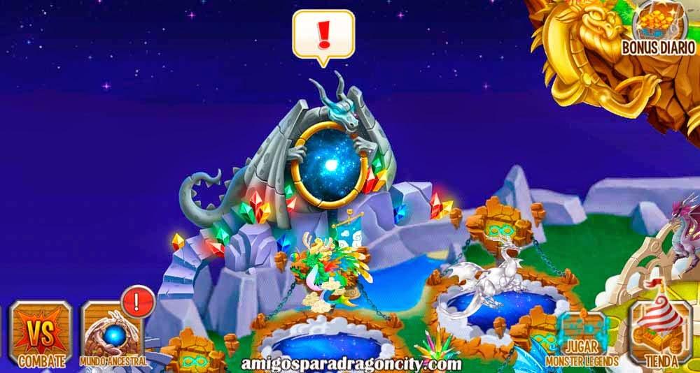 imagen del portal del mundo ancestral de dragon city