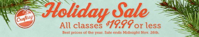 Craftsy sale on classes
