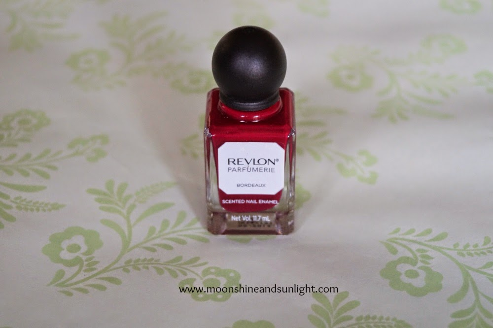 Indian nail art blog, Kolkata: Revlon parfumerie scented nail enamel (nail polish) in Bordeaux swatches, review and price in India