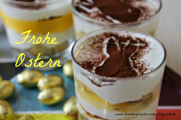 Eierlikör Tiramisu Frohe Ostern Foodblog goldene Ostereier Hase Himbeerprinzesschen