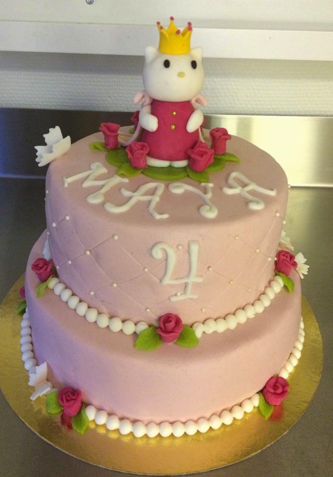 Hello Kittytårta med prinsesstema