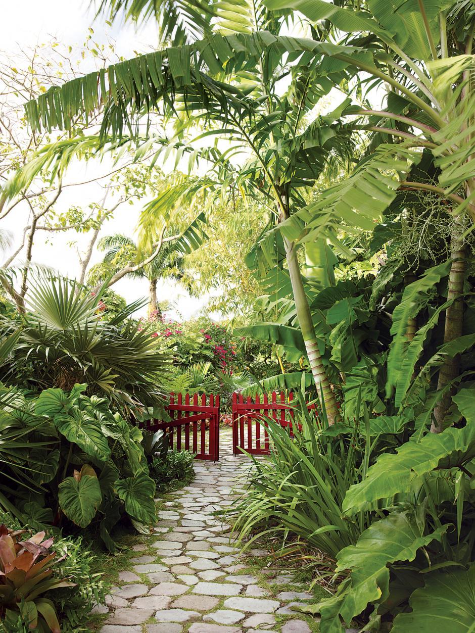 Pinkpagodastudio the marden 39 s golden rock inn nevis for Tropical landscape design