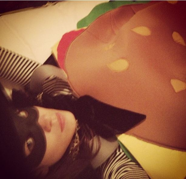 Alexa Chung Hamburglar Halloween Costume