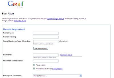 Mendaftar Email Gmail