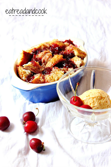 how to make cherry bread pudding
