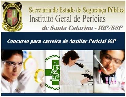 Inscrições Concurso Público Instituto Geral de Perícias IGP/SC