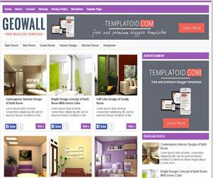 GeoWall Responsive Blogger Template Template Blogspot Website chia sẻ hình ảnh đẹp là một template blogspot đẹp