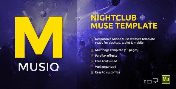 Free Premium Muse Template 2015
