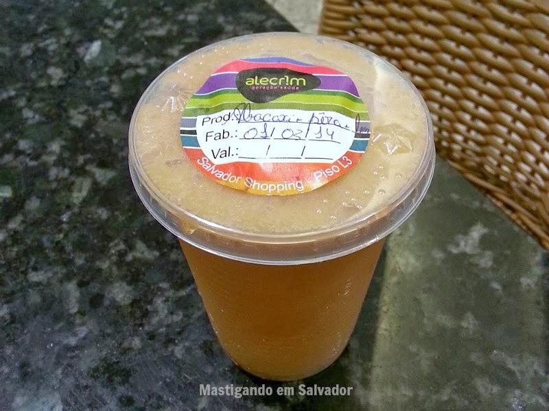 Alecrim Geração Saúde: Suco de Abacaxi, Pera e Laranja