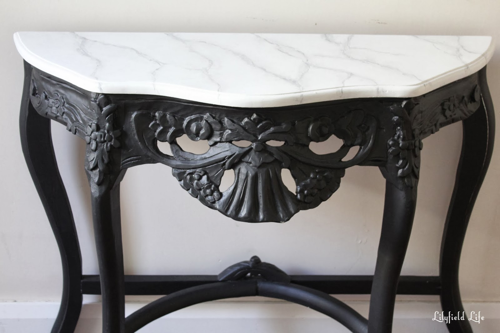 Faux Marble Painted Table