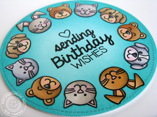 Sunny Studio Stamps Sending My Love Critters Sending Birthday Wishes Card