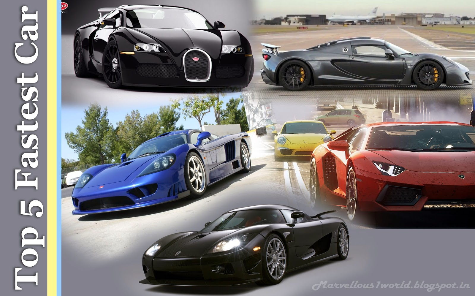 Top 5 Fastest Car In The World For 2015 Marvelous World