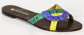 rasteira cores bandeira Brasil Copa Paula Torres