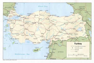 Detailed Turkey map