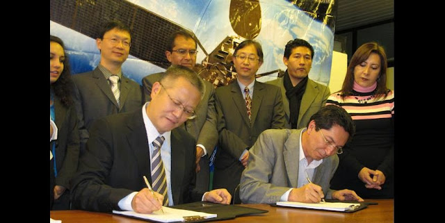 In 2010, China Great Wall Industry Corporation (CGWIC), and the Bolivian Space Agency (ABE) signed the Contract for Tupak Katari Communications Satellite Program in La Paz, the administrative capital city of Bolivia. Mr. Ivan Zambrana, Executive General Director of ABE, and Mr. Yin Liming, President of CGWIC, executed the contract as the representative of each party. Credit: cgwic.com