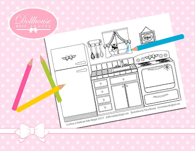 Free Dollhouse Coloring Pages