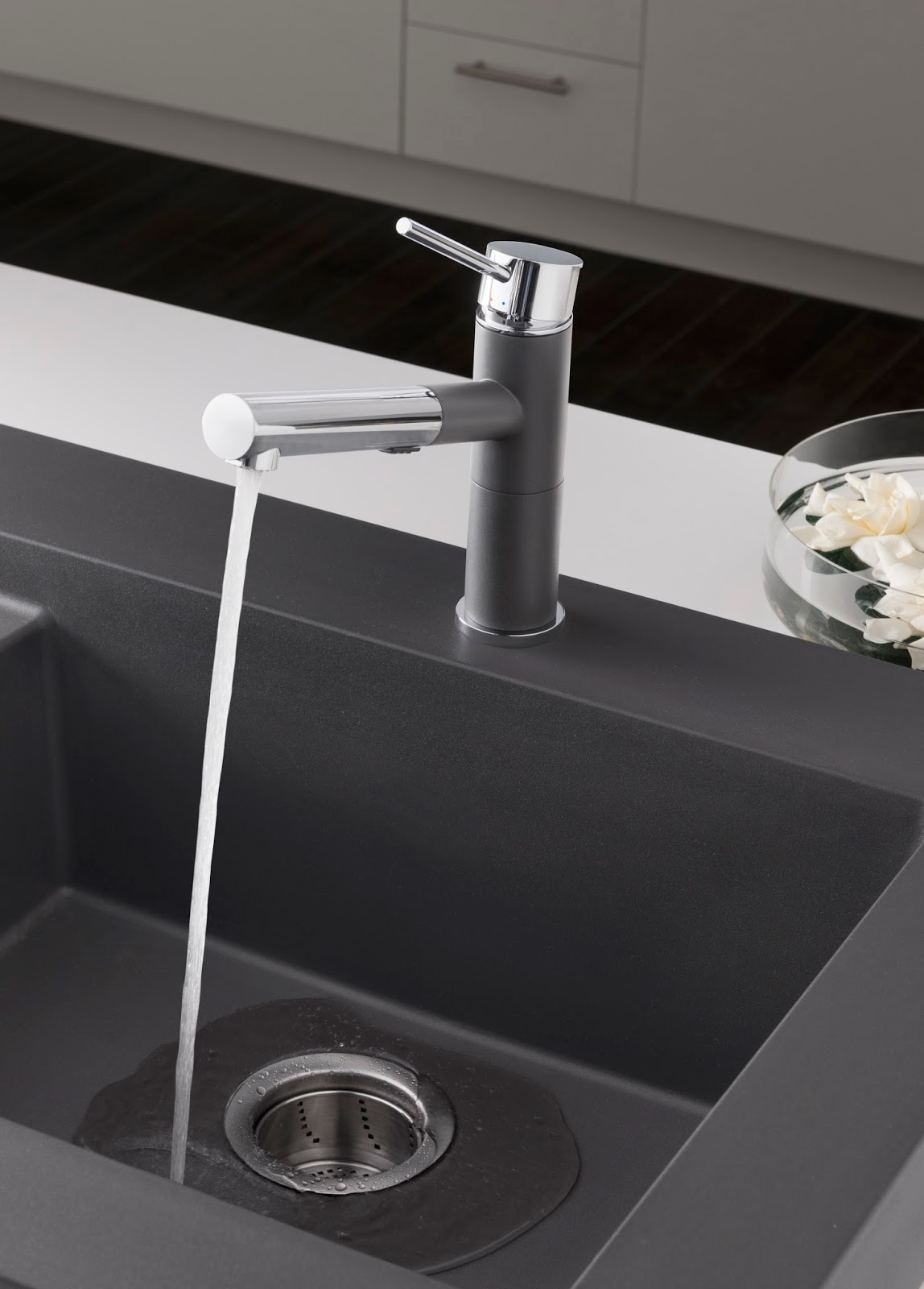 Blanco Silgranit sink in cinder (on my kitchen remodel wish list!)