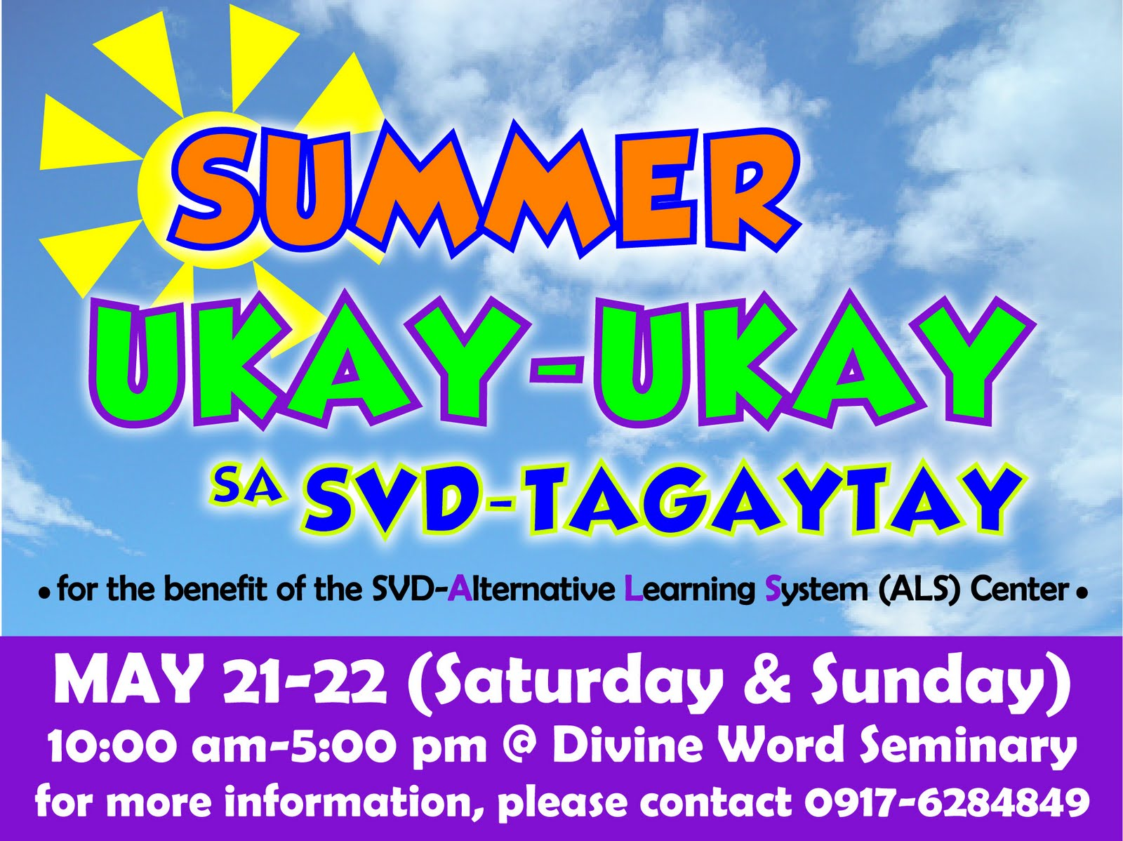 Divine word seminary 2011 a garage sale ukay ukay sa tagaytay will be held on may 21 22 2011 sat sun at the divine word seminary here in tagaytay city for the benefit of the malvernweather Image collections