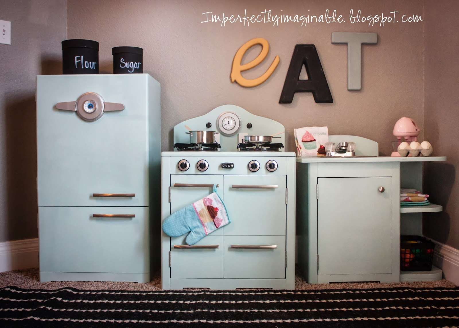 Pottery Barn Retro Kitchen Imperfectly Imaginable Pottery Barn Inspired Retro Kids Kitchen