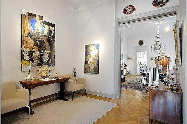 elegance apartment design with classical swedish style in