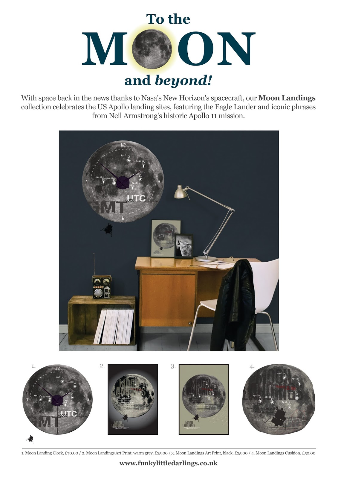 Funky Little Darlings' Moon Landings Interior Collection Mood Board