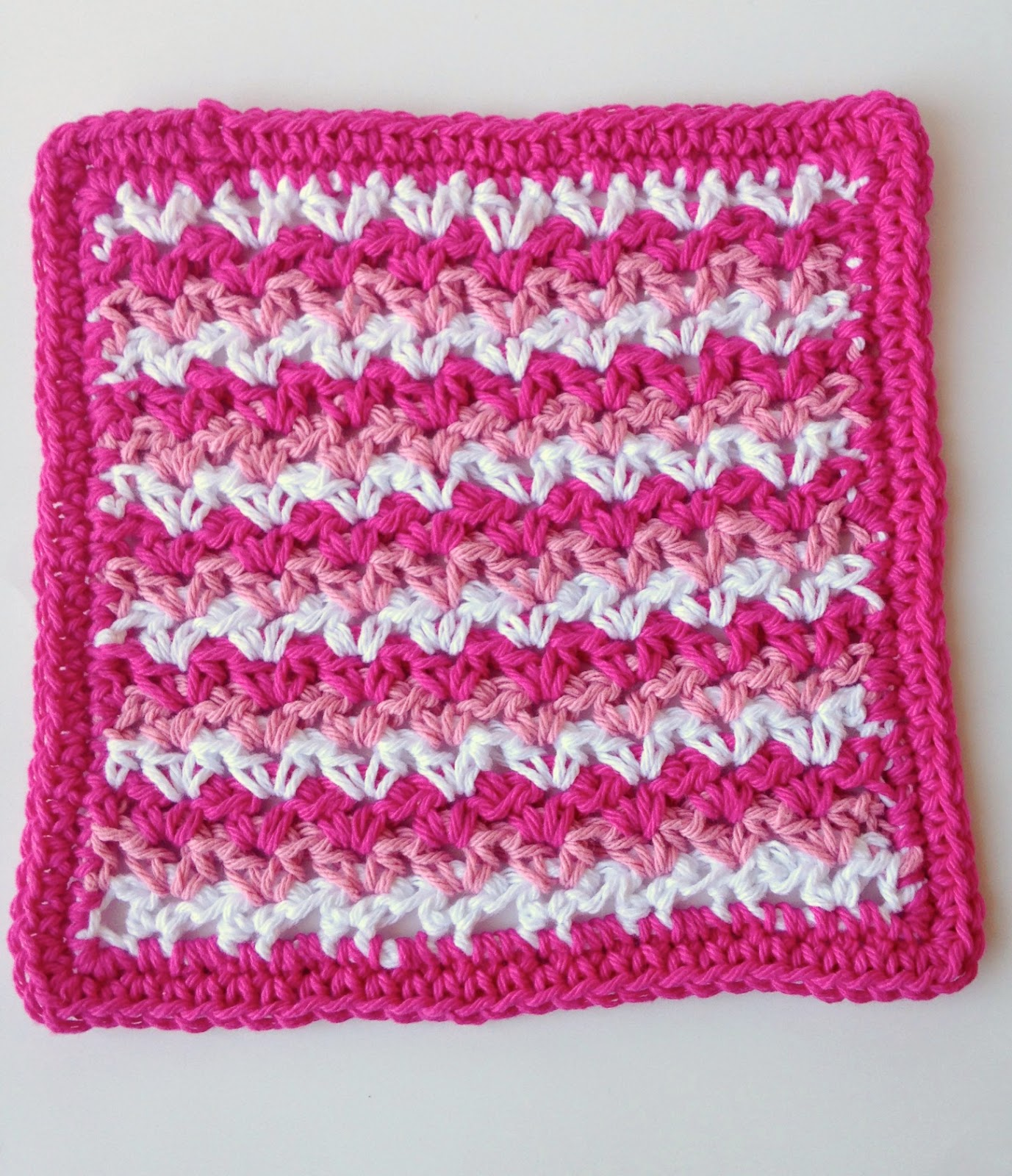 5 Little Monsters: Valentine Dishcloth Collection: #3 V-Day Stripes