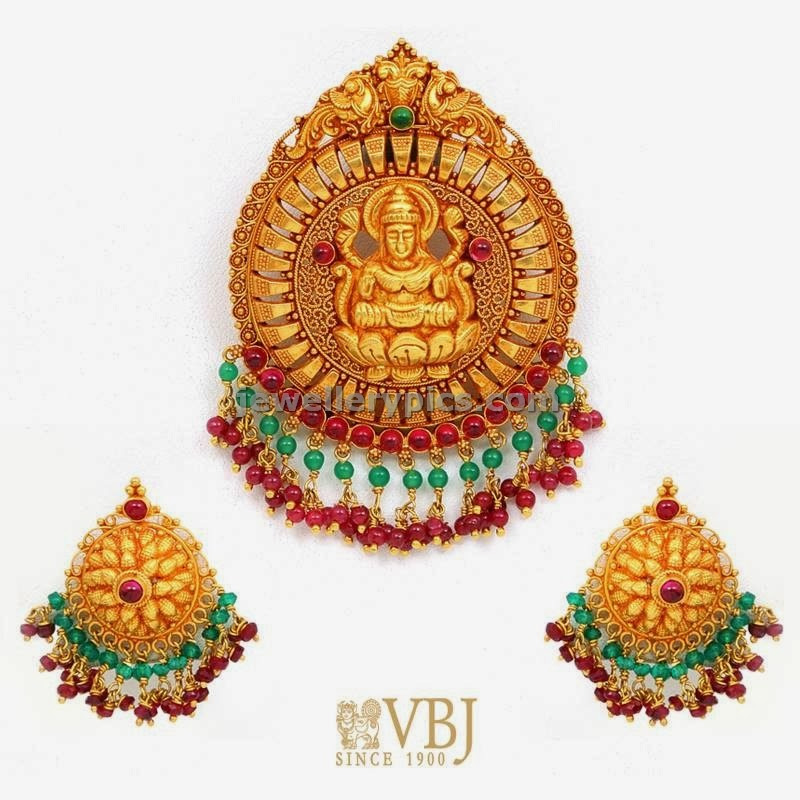 lakshmi set locket and earrings by vbj