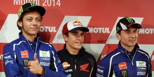 Valentino Rossi, Jorge Lorenzo and Marc Marquez