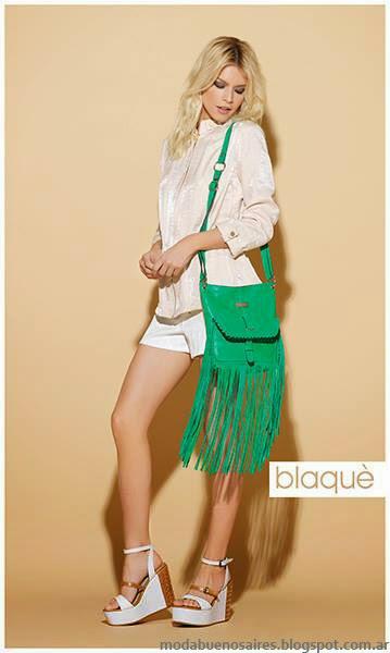 Blaque primavera verano 2014 carteras, bolsos y zapatos 2014.