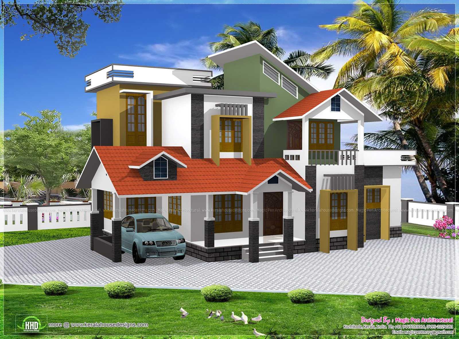 Small budget modern house in 1600 sq feet keralahousedesigns for Modern house plans for 1600 sq ft