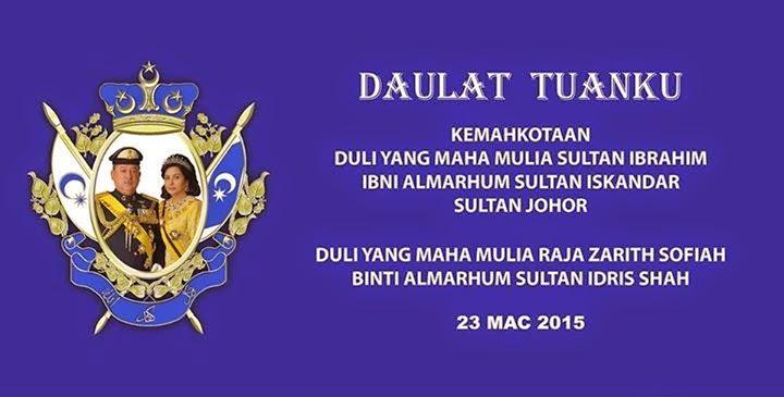 Kemahkotaan Sultan Ibrahim, Sultan Johor