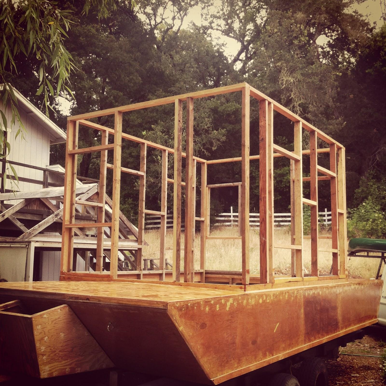 Shanty Boat: Cabin Wall Framing. Finally.