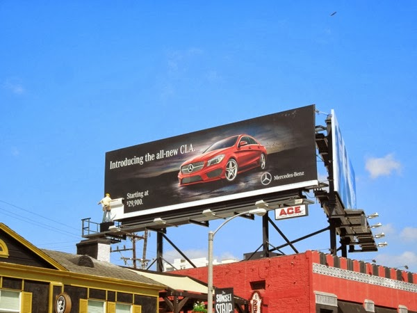 All new CLA Mercedes-Benz special billboard
