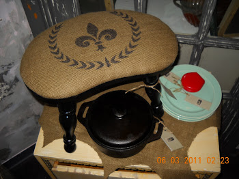 Burlap Covered Milking Stool
