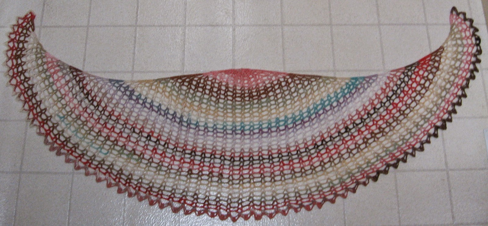 knits sunrise shawl a crescent to crochet click for details crochet ...