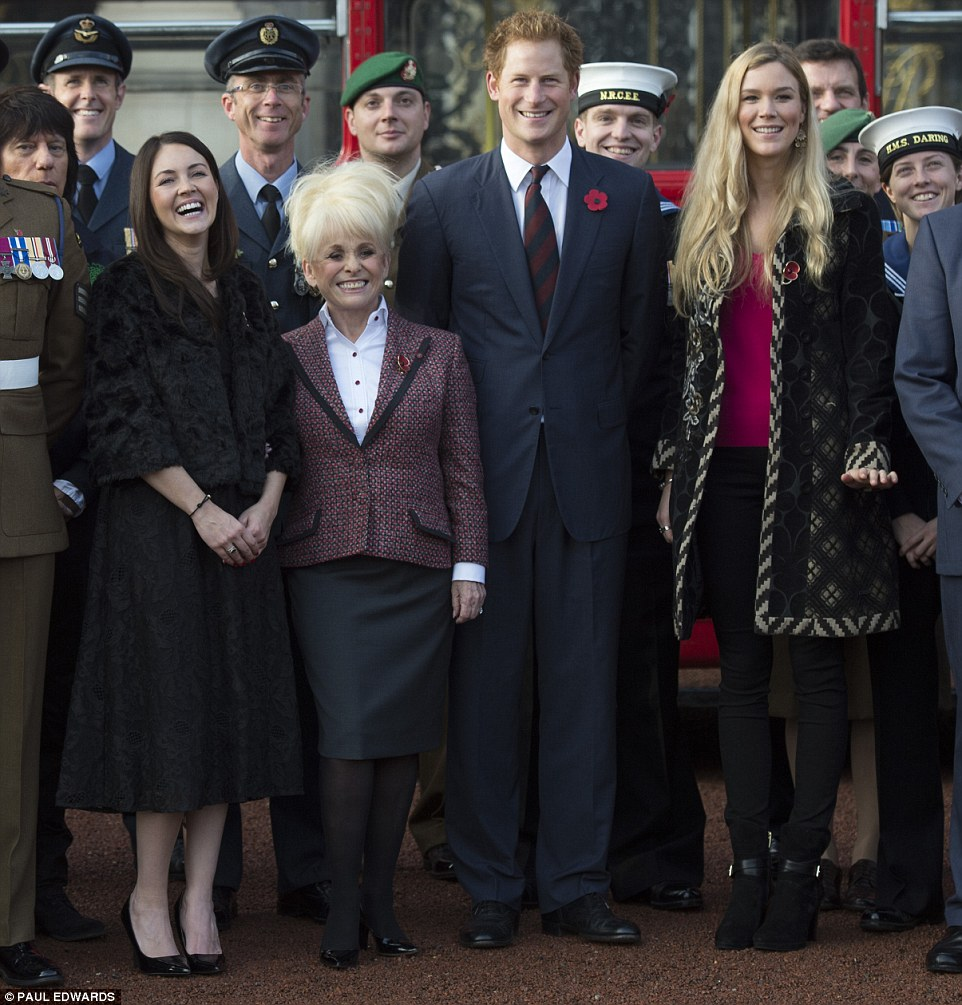 Prince Harry at Buckingham Palace greeting the collectors for London Poppy Day