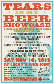 Tears in My Beer Showcase | Hurrican Sandy Relief Fundraiser @ Lucky Seven&#39;s
