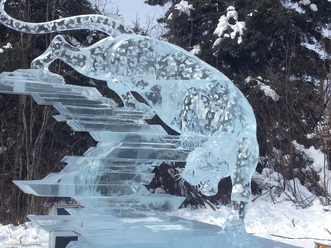 2.) How'd they get the spots on there? - Amazing Ice Sculptures That Put Edward Scissorhands To Shame.