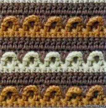 16 esquemas de punto crochet