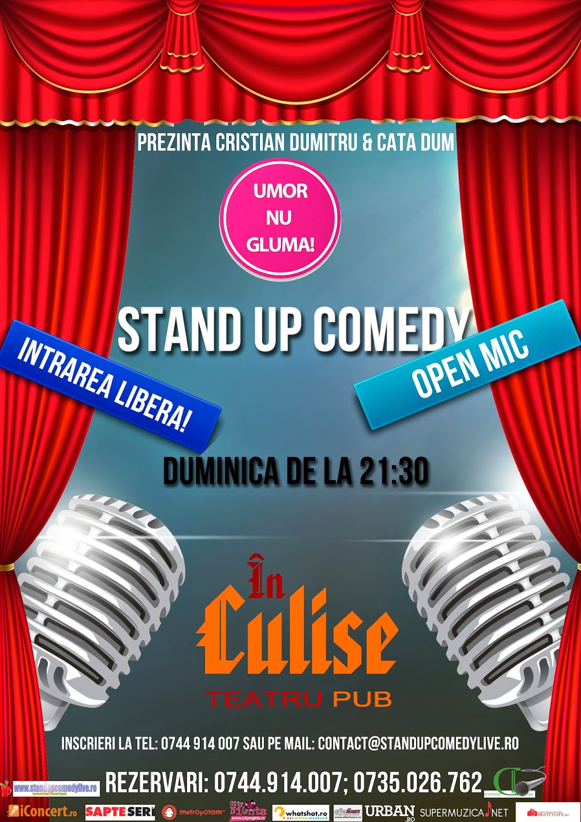 Stand-Up Comedy Duminica: Open Mic