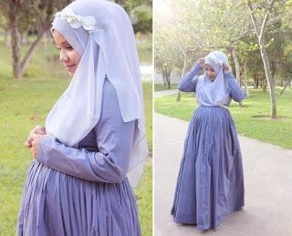 Model daster dengan karet pinggang untuk ibu hamil