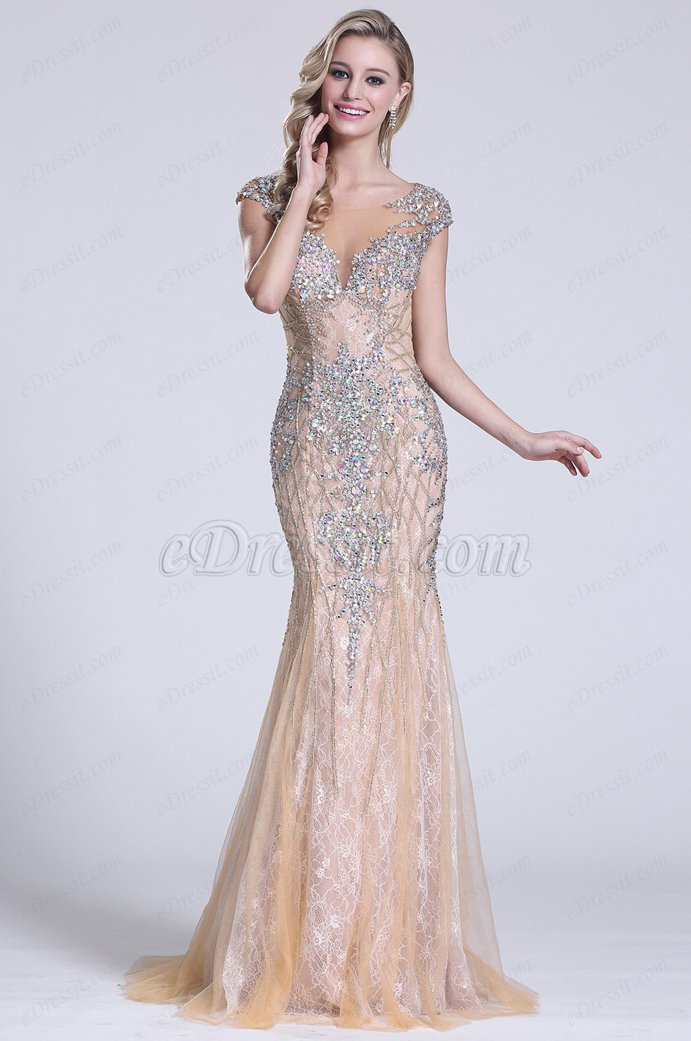 Sparkling Gown Refresh Your Look In This Beige Beaded Make A Bold Move Into Dress For Princess